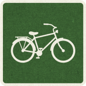 Picnic Day_Pictogram Chip_Green Dark_Bicycle