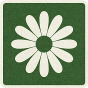 Picnic Day_Pictogram Chip_Green Dark_Flower