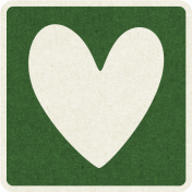 Picnic Day_Pictogram Chip_Green Dark_Heart