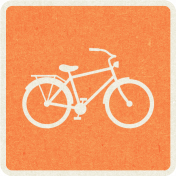 Picnic Day_Pictogram Chip_Orange_Bicycle