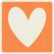 Picnic Day_Pictogram Chip_Orange_Heart