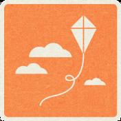 Picnic Day_Pictogram Chip_Orange_Kite