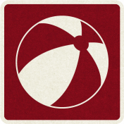 Picnic Day_Pictogram Chip_Red Dark_Ball