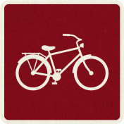 Picnic Day_Pictogram Chip_Red Dark_Bicycle