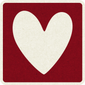 Picnic Day_Pictogram Chip_Red Dark_Heart