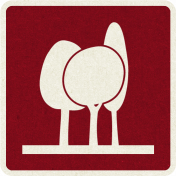 Picnic Day_Pictogram Chip_Red Dark_Trees