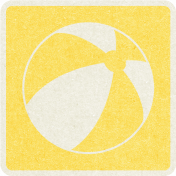 Picnic Day_Pictogram Chip_Yellow_Ball