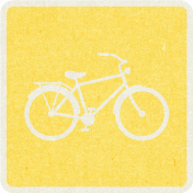 Picnic Day_Pictogram Chip_Yellow_Bicycle