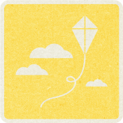 Picnic Day_Pictogram Chip_Yellow_Kite