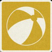 Picnic Day_Pictogram Chip_Yellow Dark_Ball