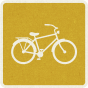 Picnic Day_Pictogram Chip_Yellow Dark_Bicycle