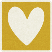 Picnic Day_Pictogram Chip_Yellow Dark_Heart