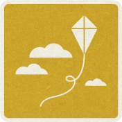 Picnic Day_Pictogram Chip_Yellow Dark_Kite