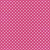 Raindrops & Rainbows- Paper Hearts Pink Dark