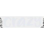 Crazy In Love- Tape Crazy Blue- UnTextured