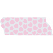 Crazy In Love- Tape Hearts Pink- UnTextured