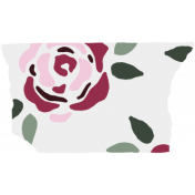 Crazy In Love- Tape Roses White- UnTextured