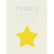 Dream Big- Journal Card- Twinkle