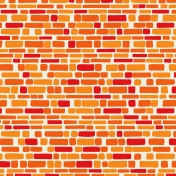 Our House-Paper-Bricks-Orange