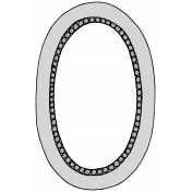 Our House-Sticker-Frame-Oval