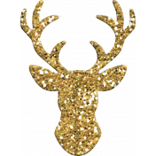 Winter Wonderland Christmas- Deer Glitter