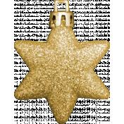Winter Wonderland Christmas- Ornament Glitter Star