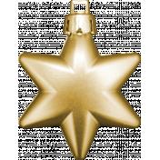 Winter Wonderland Christmas- Ornament Gold Star