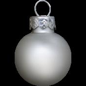 Winter Wonderland Snow - Ornament Ball Silver