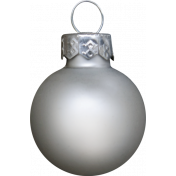 Winter Wonderland Snow- Ornament Ball Silver