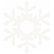 Winter Wonderland Snow- Vellum Snowflake 2