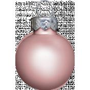 Winter Wonderland Snow- Ornament Ball Pink