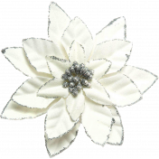 Winter Wonderland Snow - Poinsettia White