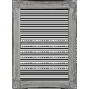 Winter Wonderland Snow- Frame Silver