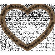 Lovestruck- Brown Heart Cut out