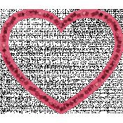 Lovestruck- Pink Heart Cut-out