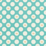 Love At First Sight- Paper Dots Aqua
