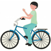 Love At First Sight- Blue Bicycle Sticker