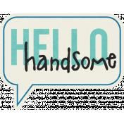 Love At First Sight- Sticker Speech Balloon Handsome