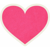 Love At First Sight- Pink Heart Sticker