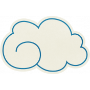 Love At First Sight- Cloud Sticker Blue
