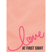Love At First Sight- Journal Card Love- Portrait