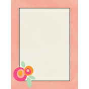 Love At First Sight- Journal Card Peach
