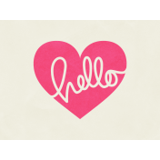 Love At First Sight- Journal Card Hello- Landscape