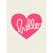 Love At First Sight- Journal Card Hello- Portrait