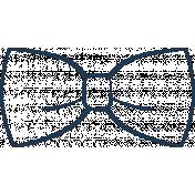 Doodle Navy Bow Tie