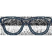 Doodle Navy Glasses 1