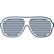 Doodle Navy Glasses 2