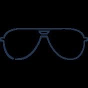 Doodle Navy Glasses 3