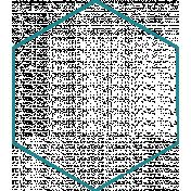 Doodle Teal Hexagon Large 2