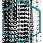 Doodle Teal Hexagon Medium 1